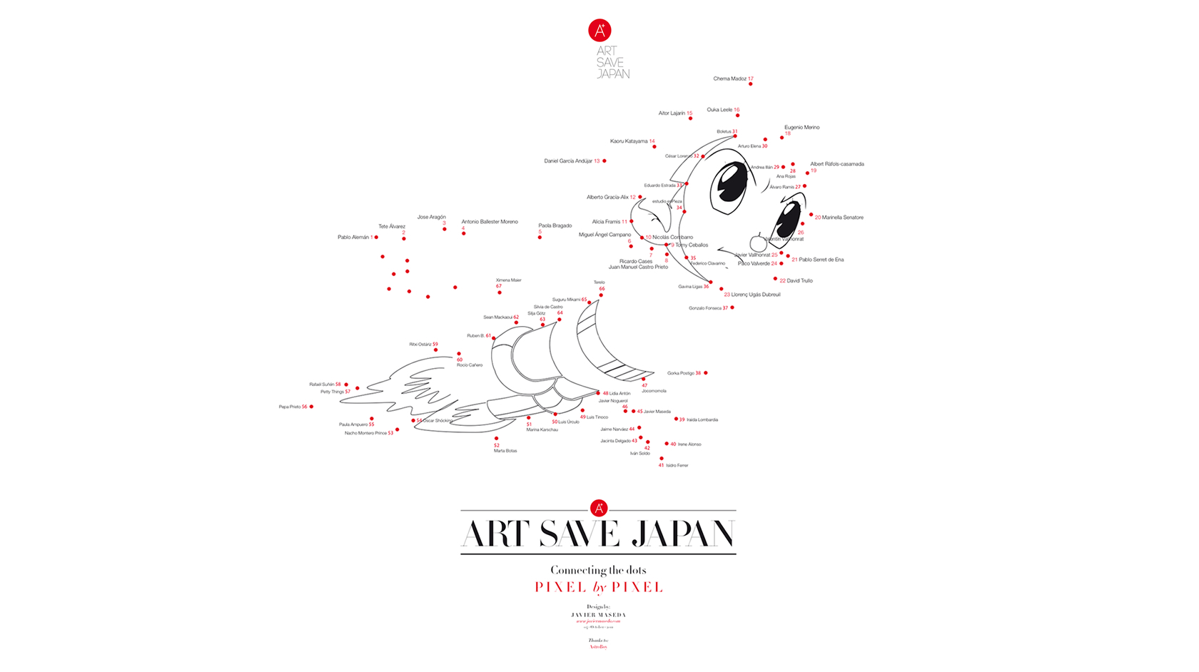 Art Save Japan - Poster Astroboy - Javier Maseda Design