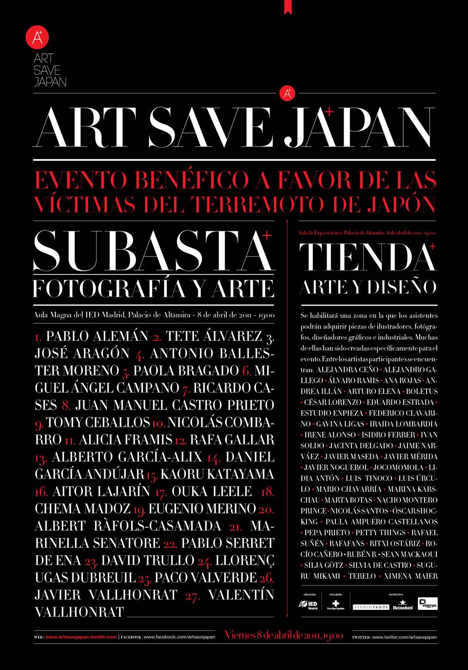 Poster Art Save Japan - Javier Maseda Design